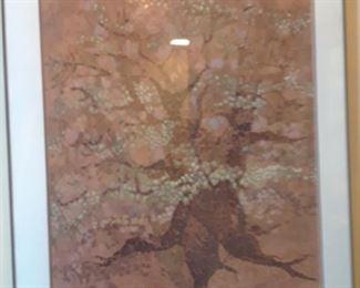 Stylized tree, or original art, signed