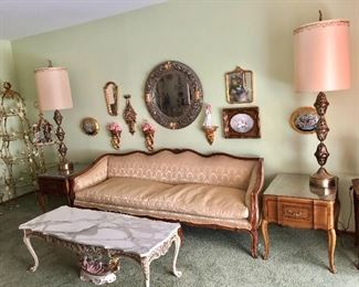 * PRESALE NOW Beautiful Vintage Sofa $150  Call / Email me for a scheduled time to come see during PRESALE.