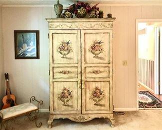 Beautiful painted wardrobe