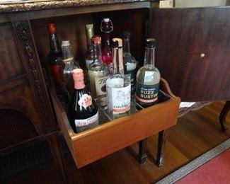 Galvanized racks for bottles (alcohol not included)