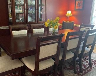 Ashley Formal Dining Table with eight chairs