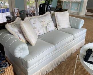 light blue sofa