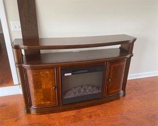 Cabinet with fireplace insert