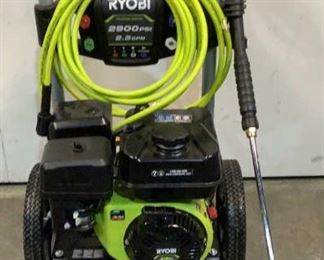 Located in: Chattanooga, TN MFG Ryobi Model RY802925VNM Ser# LT20435N140064 Gas Pressure Washer 2900 PSI MFR Date - 10/23/20 *Sold As Is Where Is*  SKU: T-WALL Tested - Works