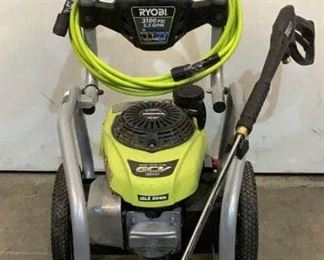 Located in: Chattanooga, TN MFG Ryobi Model RY80940B Ser# KC18404D020099 Gas Pressure Washer 3100 PSI MFR Date - 10/4/18 *Unable to Test - Has Fuel Leak* *Sold As Is Where Is*  SKU: T-WALL See Notes