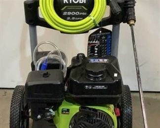 Located in: Chattanooga, TN MFG Ryobi Model RY802925VNM Ser# LT20420D140071 Gas Pressure Washer 2900 PSI MFR Date - 10/11/20 *Sold As Is Where Is*  SKU: T-WALL Tested - Works