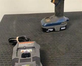 """Located in: Chattanooga, TN MFG Ryobi Model P201 Ser# BD073234717 Power (V-A-W-P) V - 18 1/2"""" Drill *Battery & Charger Included* *Sold As Is Where Is*  SKU: E-5-B Tested - Works"""