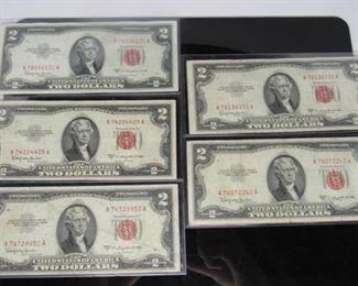 Yr: 1953 C Denomination $2 Dollar Bills Located in: Chattanooga, TN