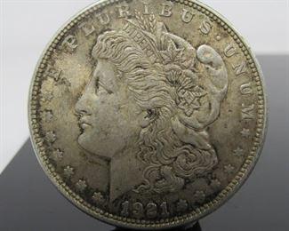 Yr: 1921 Denomination Morgan Dollar Located in: Chattanooga, TN