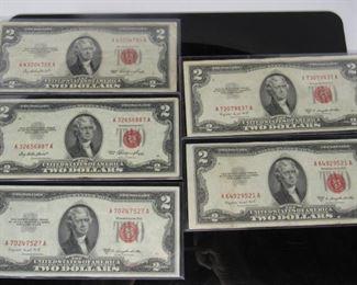 Denomination $2 Dollar Bills Located in: Chattanooga, TN (2) 1953 (3) 1953B