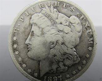 Yr: 1897 - S Denomination Morgan Dollar Located in: Chattanooga, TN S Mint