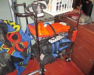 Rolling Beverage Cart