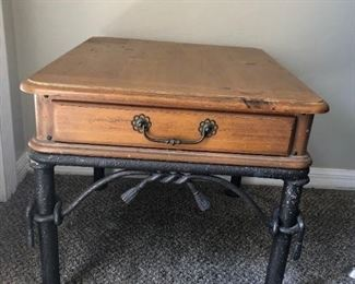 wrought side table