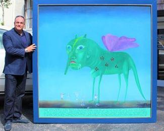 Leonid Purygin (1951-1995) Monumental Oil on Canvas