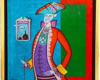 Mikhail Chemiakin (b 1943) Oil on Canvas