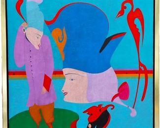 Mihail Chemiakin (b. 1943) Oil on Canvas