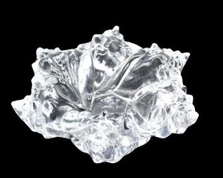 Signed R. Lalique Crystal Bowl