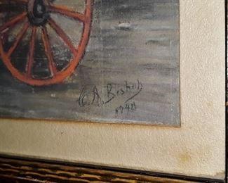 """Cotton"", chalk / pastel, 1940"