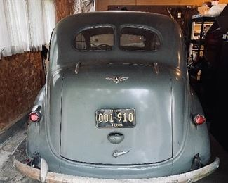 Rear Trunk view of the 1937 Plymouth