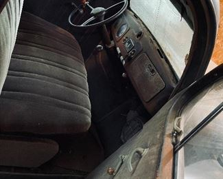 Inside Front Seat View of this beautiful 1937 Plymouth