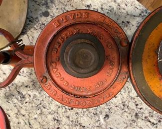 Antique scales with counter weights