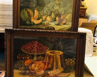Very old still life prints in fine old frames