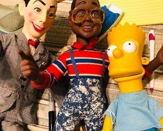 Peewee, Urkel, and Bart.