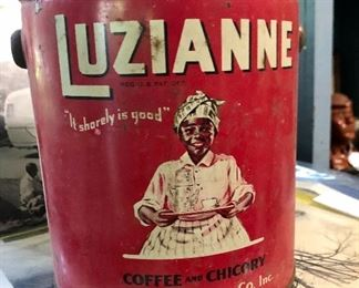 """Vintage Luzianne Coffee can """"It shorely is good"""", Coffee and Chicory"""