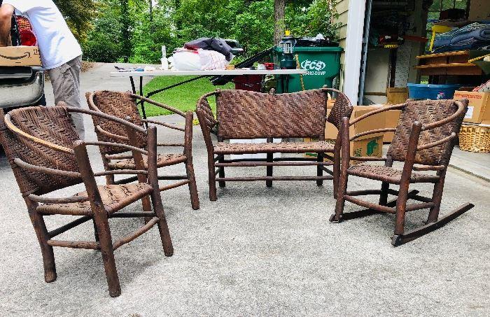 Child's set of Old Hickory Twig  Furniture!
