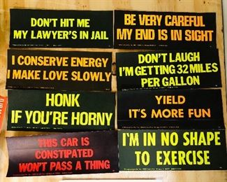 Vintage bumper stickers, very funny!!