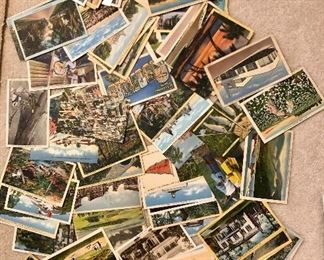 Large collection of great vintage postcards