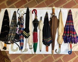 Great selection of vintage umbrellas!