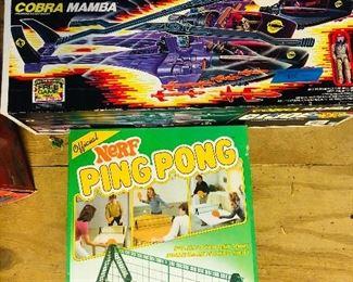 GI Joe Cobra Mamba and Nerf Ping Pong!