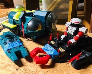 GI Joe Cobra Water Moccasin, GI Joe Cobra Bugg vehicle with Secto Viper Diver, Robo Force Dred Crawer