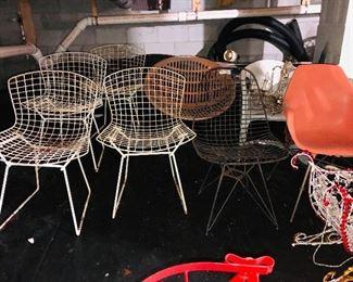 Assortment of midcentury modern chairs