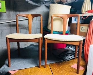 Two mid century teak chairs made by d-SCAN