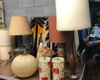 Spaghetti Hanging lamp, Mid century Swag lamp, teak lamp, popsicle lamp and more!
