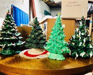 Large ceramic Christmas trees!