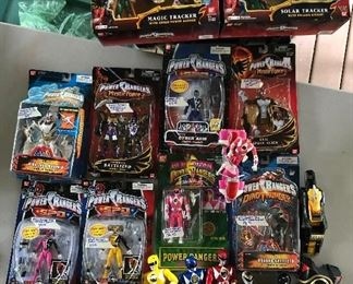 Power Rangers! Dino Thunder, Mighty Morphin, Mystic Force, S.P.D. …