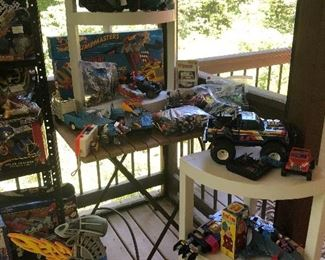 Vintage toys! the back porch is full!!!