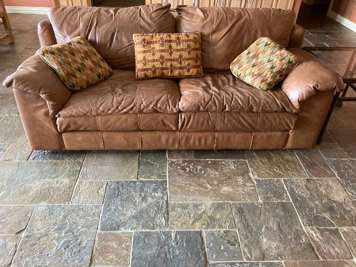 Big Leather Sofa.