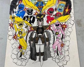 https://www.ebay.com/itm/114820946329HC1000: Original Art Colombo - Power Rangers 1996 Caesar Captains Costume Sketch New Orleans Mardi Gras Local PickupAuction $0.30