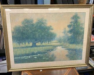 "https://www.ebay.com/itm/124755093605ME6001: AJ Drysdale Original Art Framed Louisiana Bayou Scene,""early 20th c. Oil wash on board Pencil Signed U-Ship or Local PickupAuction"