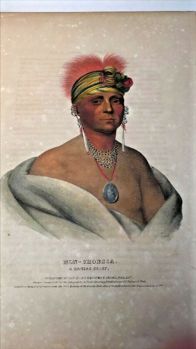 """https://www.ebay.com/itm/124758797907ME1002 LARGE ANTIQUE BOOK """"INDIAN GALLERY VOL 3: TRIBES OF NORTH AMERICA"""" 1844Auction"""