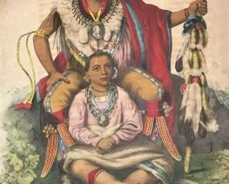 """https://www.ebay.com/itm/124758797313ME1003 LARGE ANTIQUE BOOK """"INDIAN GALLERY VOL 2: TRIBES OF NORTH AMERICA"""" C.1836Auction"""