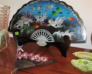 Oriental Wooden Fan
