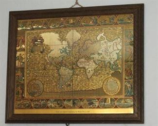 Map Original Engraving by Moses Pitt 1681