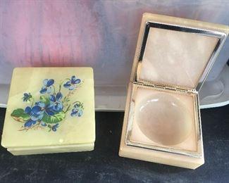 Alabaster Trinket Boxes