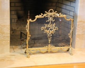French style fireplace screen