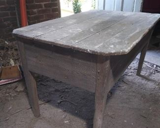 Mid 1800's southern pine pegged work table